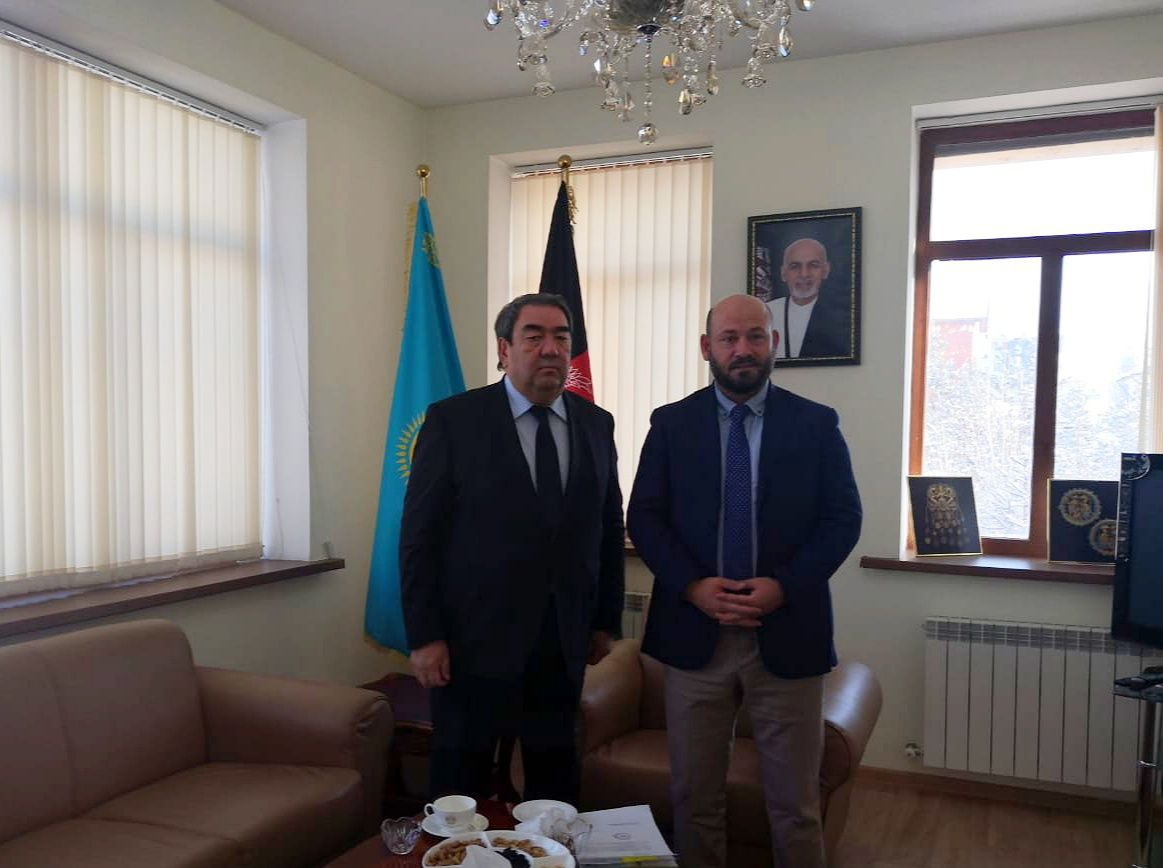 Director of the Country Office of the IOFS Secretariat Baltabay Omarov held a meeting with the Charge d'Affaires of the Islamic Republic of Afghanistan in the Republic of Kazakhstan Aziz Omar