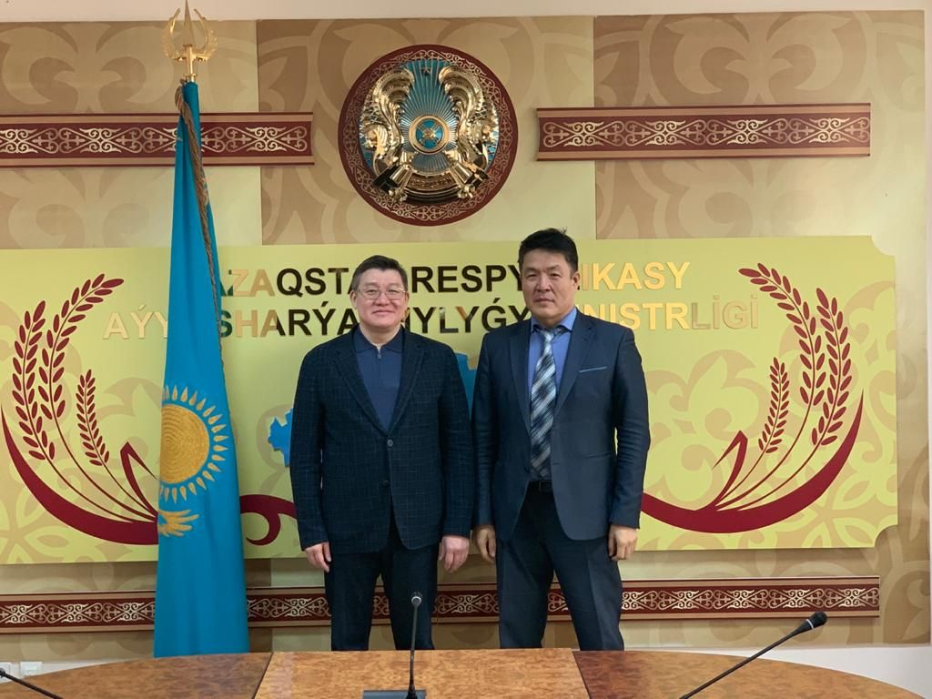 Director General meets the Vice-Minister of Agriculture of the Republic of Kazakhstan